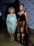 Comedian Phyllis Diller with Actress Sharon Stone at the Comedy Hall of Fame Premium Photographic Print by Kevin Winter
