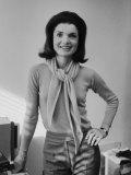 Portrait of Jacqueline Bouvier Kennedy Onassis Premium Photographic Print by Alfred Eisenstaedt