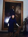 1st Lady Mamie Eisenhower W the Family Dog Heidi Premium Photographic Print by Ed Clark