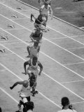 Athletes Competing in the Olympic Tryouts Premium Photographic Print