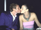 Actress Liv Tyler and Singer Royston Langdon Kissing at Amfar Benefit Premium Photographic Print by Dave Allocca