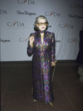 Fashion Designer Pauline Trigere at Cfda Awards Premium Photographic Print by Dave Allocca