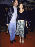"Actor Matthew Perry and Girlfriend Rene Ashton at Film Premiere of ""Fight Club"" Premium Photographic Print by Mirek Towski"