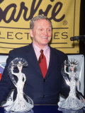 Designer Bob Mackie with New Liberty Barbie Doll He Designed Premium Photographic Print by Dave Allocca