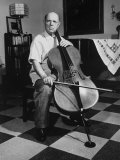 Cellist Pablo Casals at His Home Premium Photographic Print
