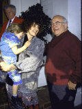 Actor Edward Asner and Girlfriend Carol Jean Vogelman Premium Photographic Print by David Mcgough