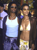 Actress Halle Berry and Fiance, Musician Eric Benet, at Film Premiere of Berry&#39;s &quot;X-Men&quot; Premium Photographic Print by Dave Allocca