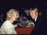 Actors Kim Basinger and Robert Redford Premium Photographic Print by Ann Clifford