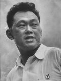 Prime Minister Kuan Yew Lee Premium fotografisk trykk av John Dominis