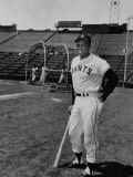 Baseball Star, Willie Mays on the Field Premium Photographic Print