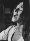 Cree Indian Folk-Singer Buffy Sainte-Marie, During a Concert Premium Photographic Print
