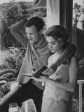 Country Singer Roger Miller and His Wife at Home Premium Photographic Print by Ralph Crane