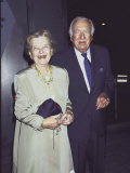 Television News Broadcaster Walter Cronkite and Wife Betsy at Nys Governor&#39;s Arts Awards Premium Photographic Print by Dave Allocca