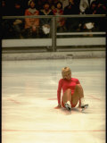 Figure Skater Janet Lynn after a Fall at the 1972 Winter Olympics Premium Photographic Print by John Dominis