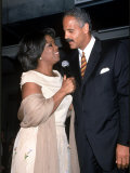 Television Personality Oprah Winfrey and Boyfriend, Entrepreneur Stedman Graham Premium Photographic Print by Dave Allocca