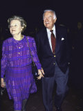 Television News Broadcaster Walter Cronkite and Wife Betsy Premium Photographic Print by David Mcgough