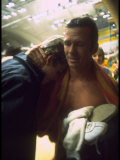 Rick Demont Being Consoled after Officials Canceled His Victory at the Summer Olympics Premium Photographic Print
