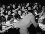 Singer Johnnie Ray, Bringing His Young Followers to the Brink of Frenzy Premium Photographic Print by Peter Stackpole