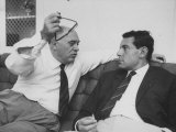 Italian Film Maker, Carlo Ponti, with Czech Director, Milos Forman, While Visiting New York City Premium Photographic Print