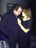 Country Music Artist Johnny Cash with Stepdaughter, Singer Rosanne Cash Premium Photographic Print by David Mcgough