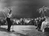 Singer Harry Belafonte Performing at the Coconut Grove Nightclub Premium Photographic Print by Ralph Crane