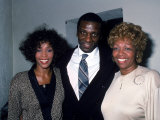 Singer Whitney Houston with Brother and Mom, Cissy Premium Photographic Print