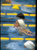 Cathy Carr Swimming in a Race at the Summer Olympics Premium Photographic Print
