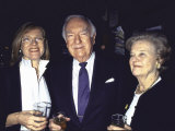 Television News Broadcaster Walter Cronkite and Wife Betsy with at Oscar-Watching Party Premium Photographic Print by Dave Allocca