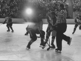 Hockey Game During Winter Olympics Premium Photographic Print