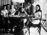 Actor John Wayne with Wife and Family in their Home Premium Photographic Print by John Dominis