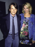 Married Actors Michael J. Fox and Tracy Pollan Premium Photographic Print by David Mcgough