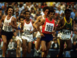 US Track Athlete Frank Shorter Running a Marathon at the Summer Olympics Premium Photographic Print by John Dominis