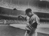 Baseball Player Mickey Mantle after Striking Out Premium Photographic Print by John Dominis
