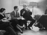 Poet Robert Frost Talking with Friend Peter Davidson Premium Photographic Print