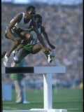 Track Athlete Kip Keino in Action at the Summer Olympics Premium Photographic Print by John Dominis