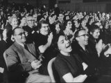 "An Audience Watching the Play, ""Man in a Dog Suit"" Premium Photographic Print by Ralph Morse"