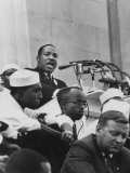 "Rev. Martin Luther King Jr. Giving His ""I Have a Dream"" Speech During a Civil Rights Rally Premium fotografisk trykk"