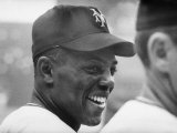 Giants Player, Willie Mays, Joking with Fellow Players During Warm-Up Premium Photographic Print