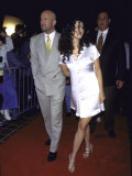 Married Actors Bruce Willis and Demi Moore Premium Photographic Print by David Mcgough