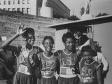 Sprinter Wilma Rudolph at the Olympics, W. Team Mates Premium Photographic Print