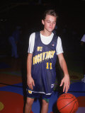 Actor Leonardo Dicaprio in Basketball Uniform Premium Photographic Print