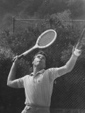 Singer Ricky Nelson Rehearsing Tennis Court Scene for Family TV Show Premium Photographic Print by Ralph Crane