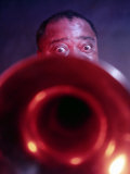 Jazz Musician Louis Armstrong Reproduction photographique Premium
