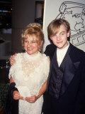 Actor Leonardo Dicaprio with Mother Irmelin at Golden Globes Premium Photographic Print