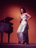 Singer Actress Dorothy Dandridge Posing by a Piano Premium Photographic Print