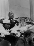 "Rev. Martin Luther King Jr. Giving His ""I Have a Dream"" Speech During a Civil Rights Rally Premium Photographic Print"