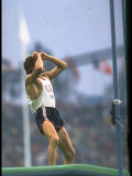 US Pole Vaulter Bob Seagren after an Unsuccessful Vault at the Summer Olympics Premium Photographic Print by John Dominis