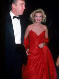 Real Estate Developer Donald Trump and Wife Ivana Premium Photographic Print by Ann Clifford