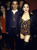 Singer Madonna in Sequins and Director Alek Keshishian Premium Photographic Print