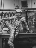 Astronaut Alan B. Shepard in Space Clothing Premium Photographic Print by Ralph Morse